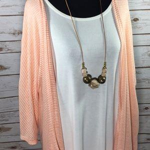 New LuLaRoe Lindsay Peach Kimono Jacket S
